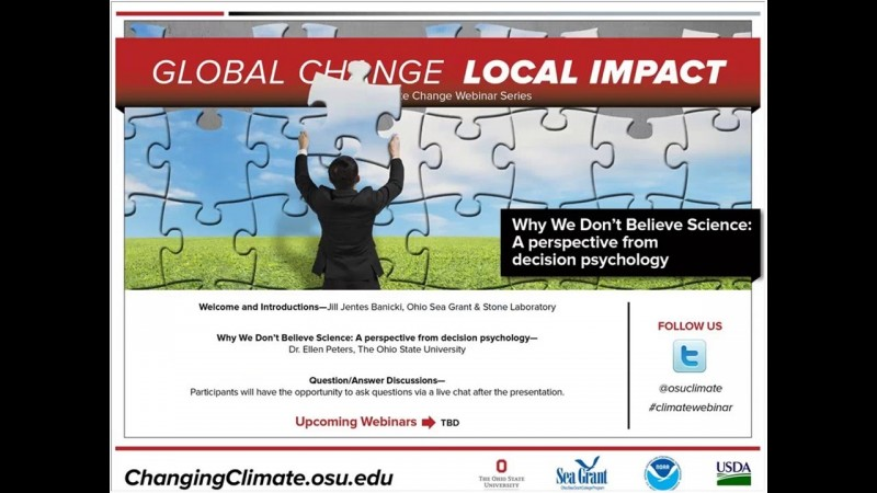 Climate Webinar February 2016: Why We Don't Believe Science