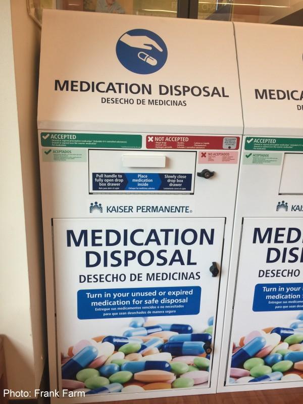 Medication disposal box