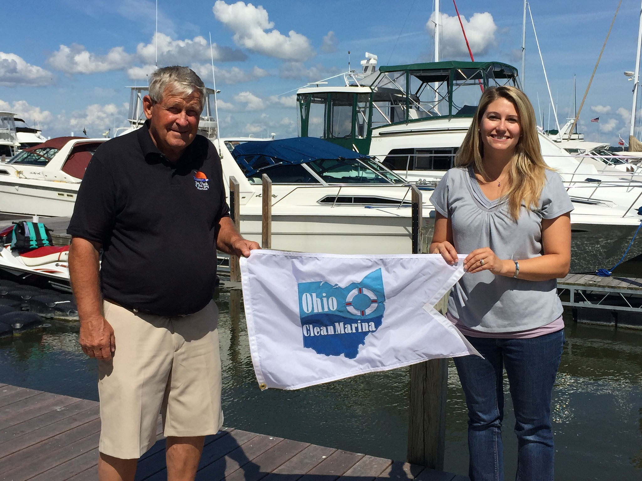 Sarah Orlando at a Clean Marina Certification