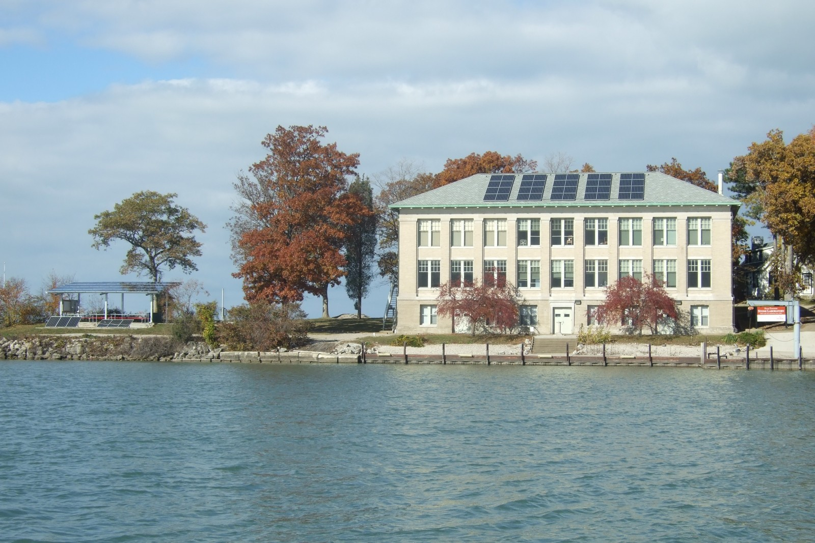 Solar panels at Stone Lab
