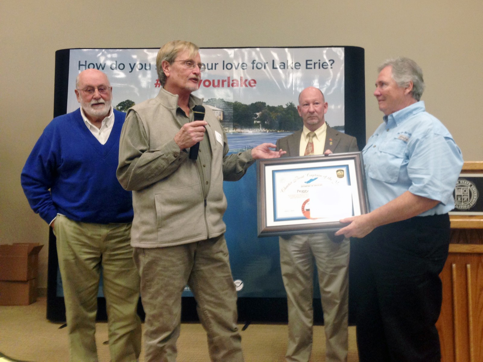 2016 Lake Erie Charter Captain of the Year award