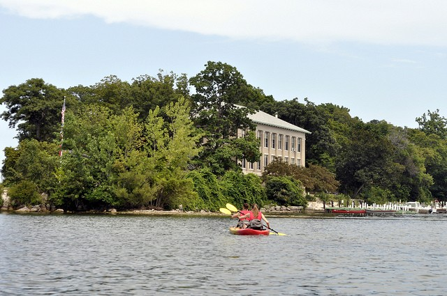 Kayakers at Stone Lab