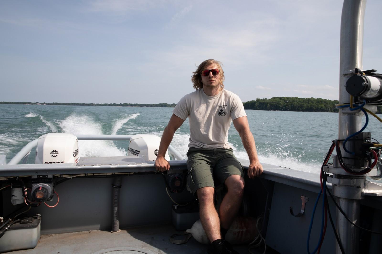 Vounteer on Boat
