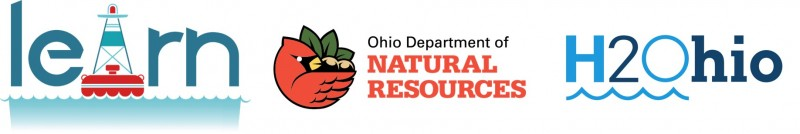 Logos for LEARN, ODNR, H2Ohio