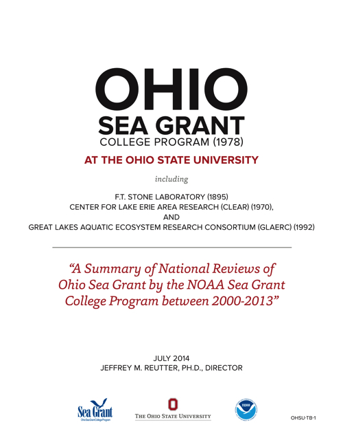 A Summary of National Reviews of Ohio Sea Grant by the NOAA Sea Grant College Program between 2000-2013