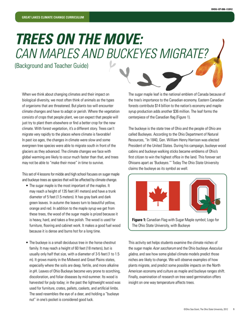 Trees on the Move: Can maples and buckeyes migrate?