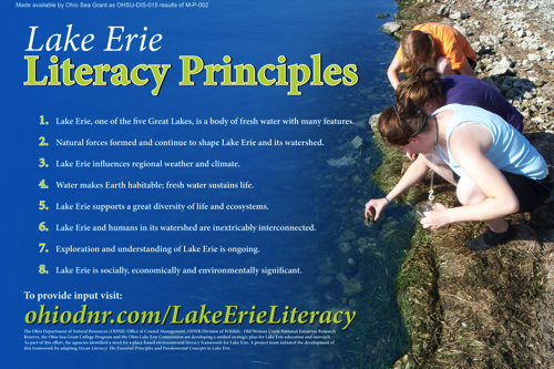 Lake Erie Literacy Principles Display