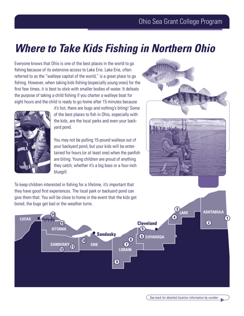 Where to take kids fishing in Northern Ohio