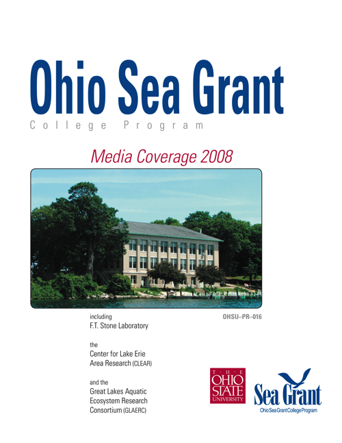 Lake Erie Programs at The Ohio State University: Media coverage 2008
