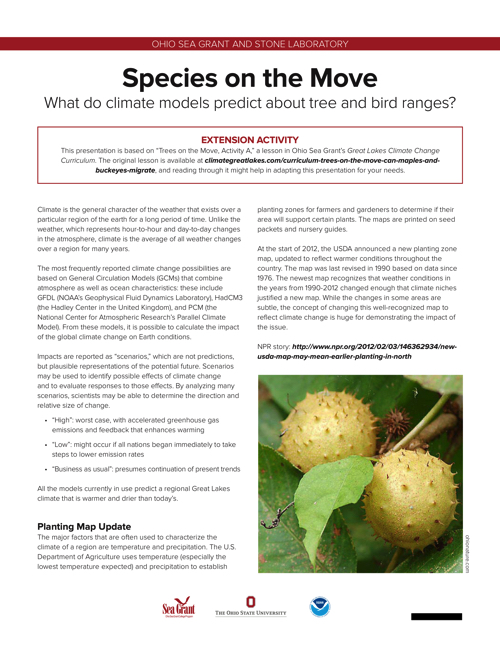 Species on the move: Extension activity and Power Point presentation