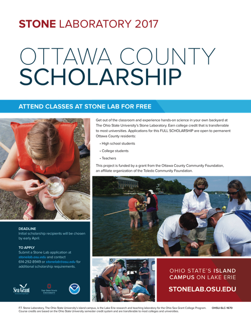 2017 Ottawa County Scholarship Flyer