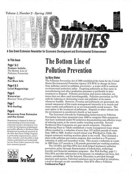 NewsWaves: A Sea Grant extension newsletter for economic development and environmental enhancement
