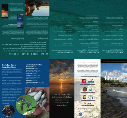 Lake Erie Literacy Principles: Essential Principles and Fundamental Concepts Brochure