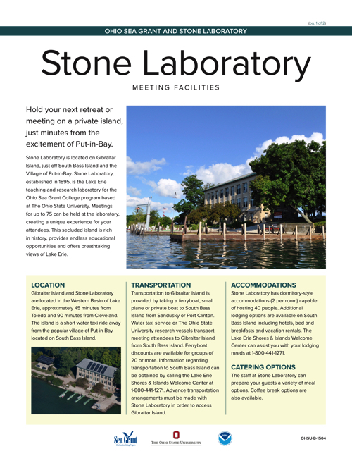Stone Lab Meeting Facilities Flyer
