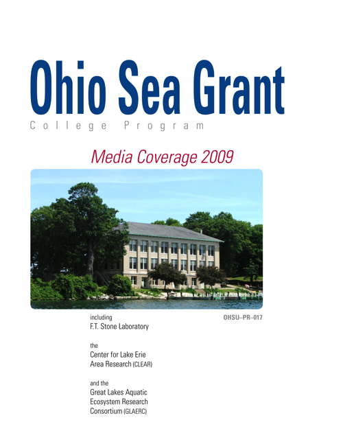 Lake Erie Programs at The Ohio State University: Media coverage 2009