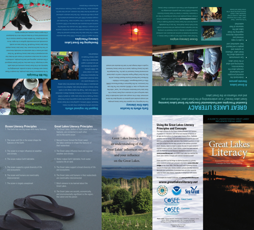 Great Lakes Literacy: Essential Principles and Fundamental Concepts for Great Lakes Learning Brochure