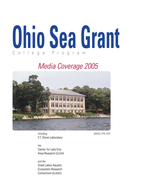Lake Erie Programs at The Ohio State University: Media coverage 2005