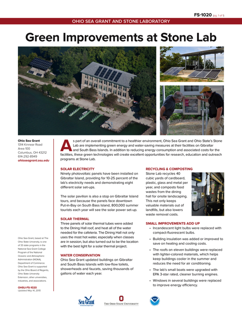 Green Improvements at Stone Lab