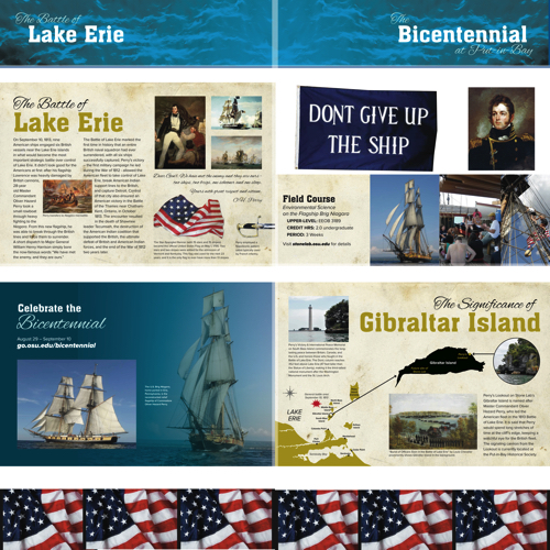Battle of Lake Erie Display, Library Display: Thompson Library