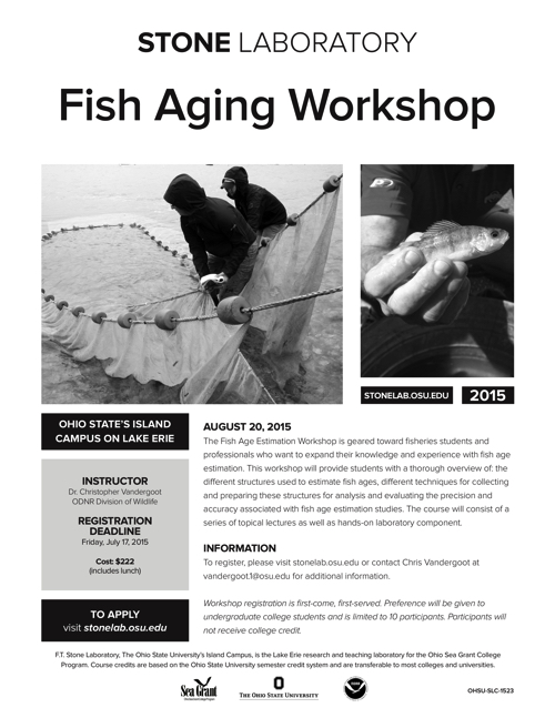 2015 Fish Aging Workshop Flyer