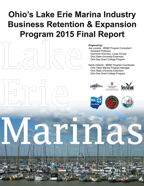 Ohio's Lake Erie Marina Industry Business Retention & Expansion Program 2015 Final Report