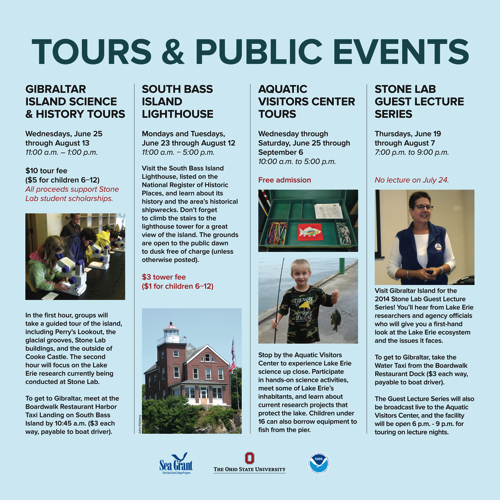 2014 Stone Lab Tours & Public Events Kiosk Panel