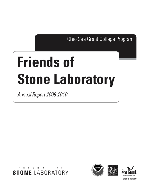 2009-2010 Friends of Stone Laboratory Annual Report