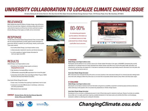 University Collaboration to Localize Climate Change Issue