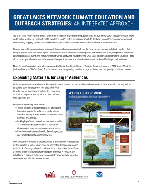 Great Lakes Network Climate Education & Outreach Strategies: An Integrated Approach