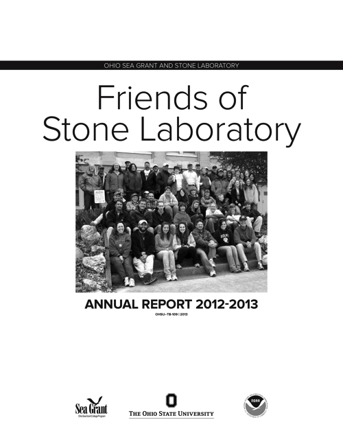 2012-2013 Friends of Stone Laboratory annual report