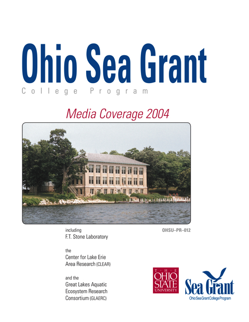 Lake Erie Programs at The Ohio State University: Media coverage 2004