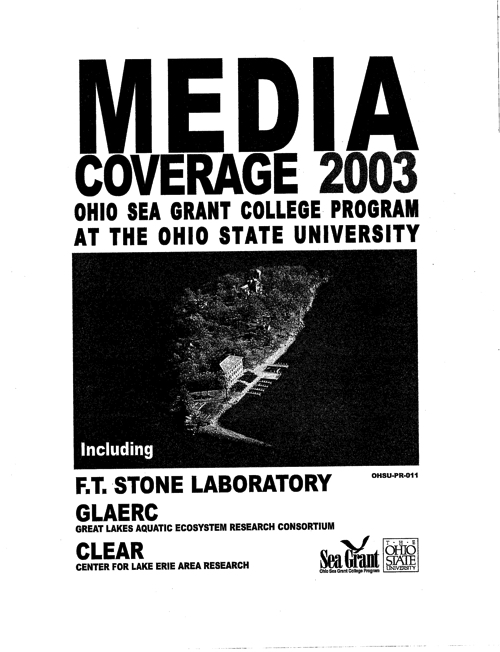 Lake Erie Programs at The Ohio State University: Media coverage 2003
