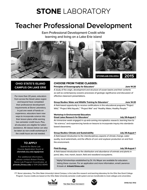 2015 Teacher Professional Development Flyer