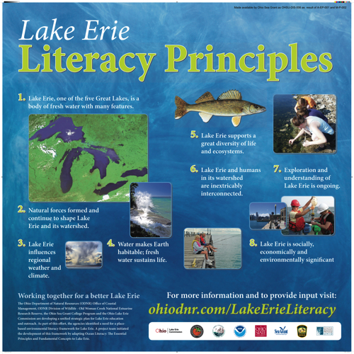 International Association for Great Lakes Research Lake Erie Literacy Principles Display