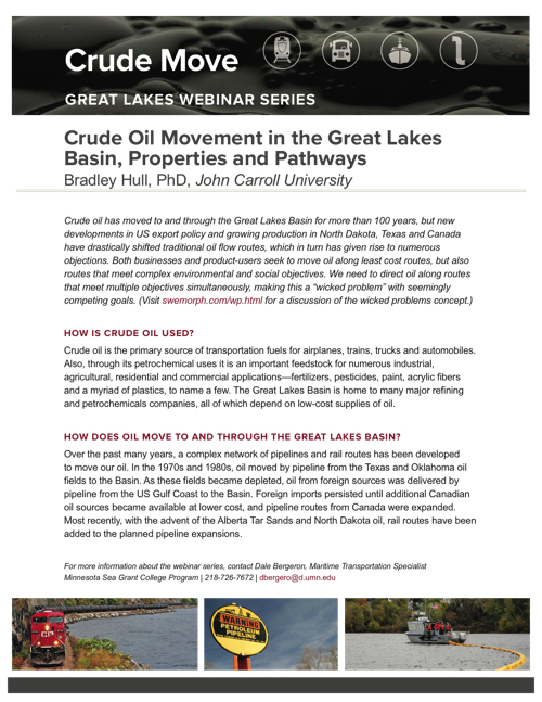 Crude Oil Movement in the Great Lakes Basin: Properties and Pathways Fact Sheet