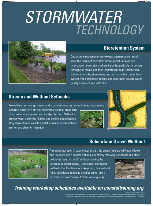 Storm water technology: Bioretention system