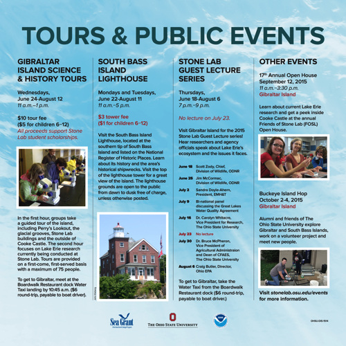 Tours & Public Events Kiosk Panel