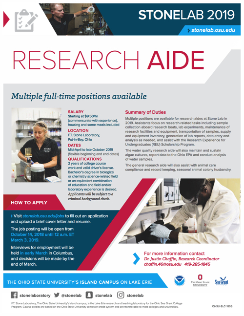 2019 Research Aide Flyer
