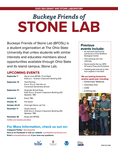 2017 Buckeye Friends of Stone Lab Flyer