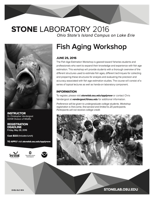 2016 Fish Aging Workshop Flyer