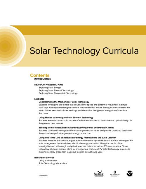 Solar Technology Curriculum
