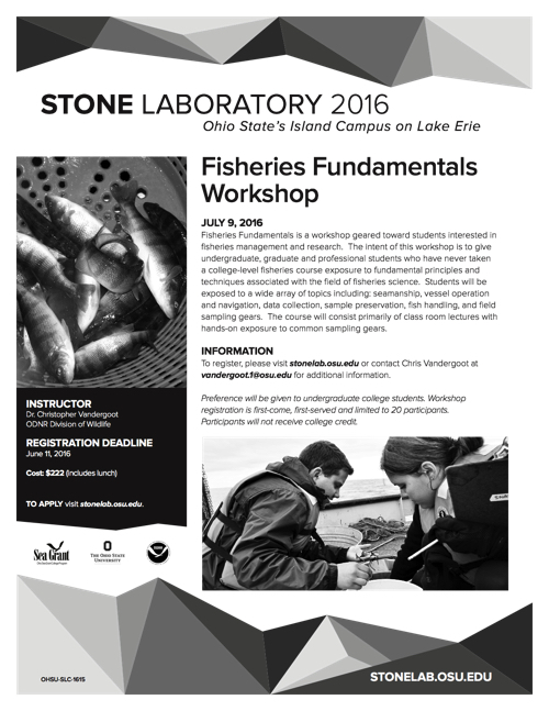 2016 Fisheries Fundamentals Workshop Flyer