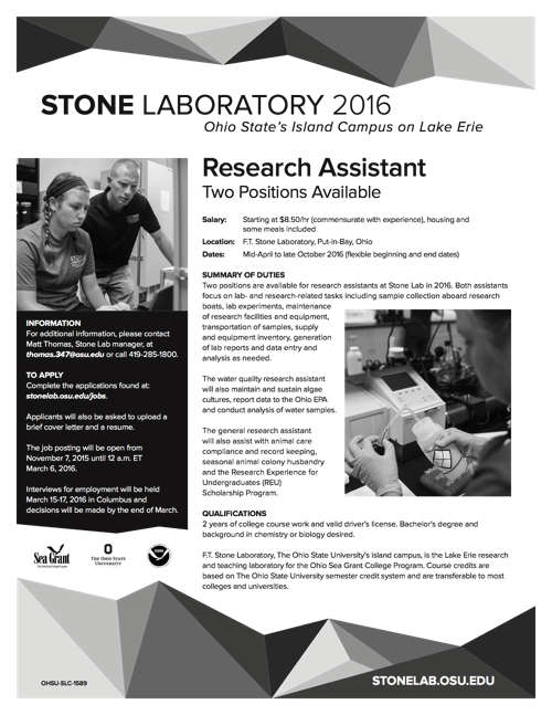 2016 Research Assistant Flyer
