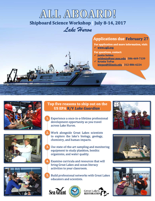 Shipboard Science Workshop Brief Flyer 2017