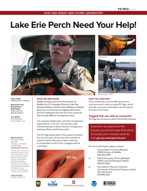 Lake Erie Perch Need Your Help!