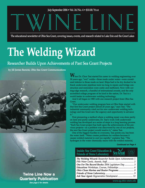 Twine Line: July/August 2004